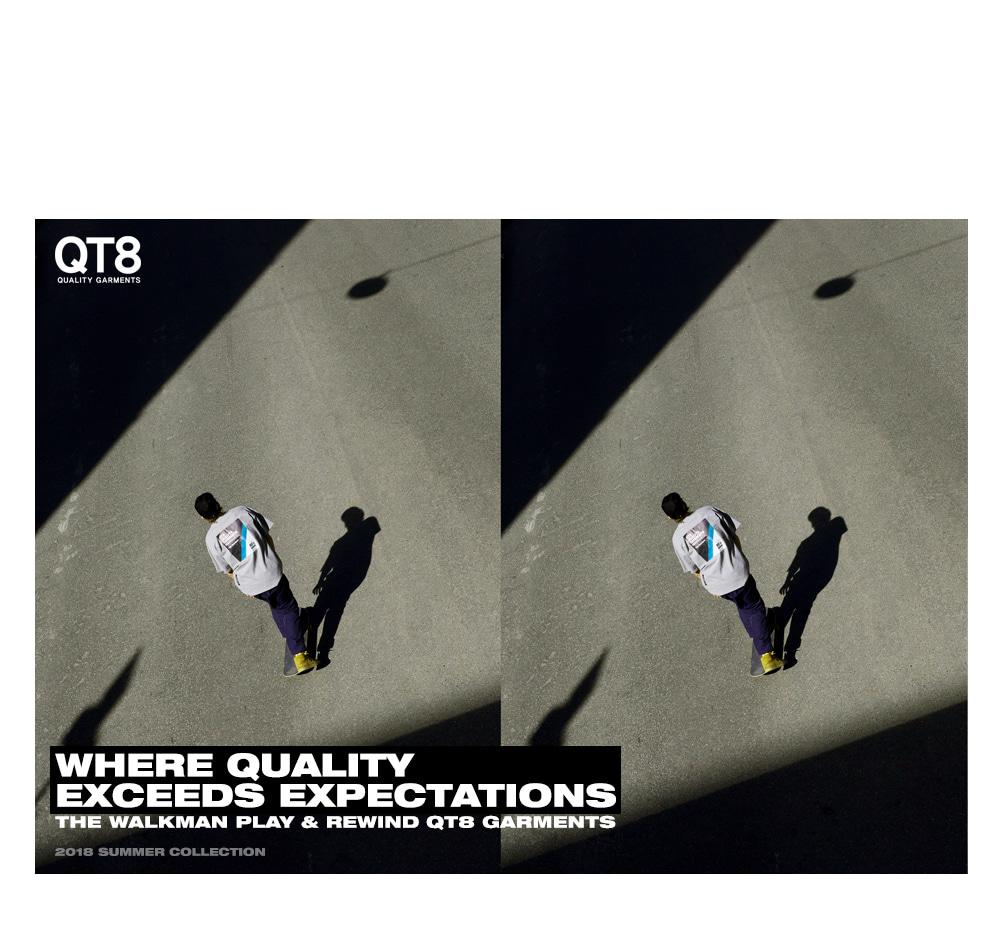 큐티에잇(QT8) TW Signature Sweat Shirt (Black)